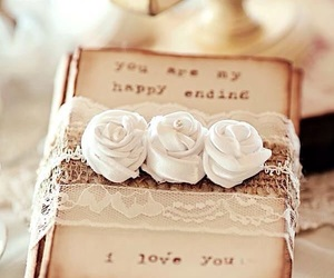 love, rose, and shabby chic image