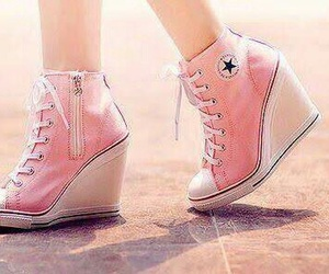pink, shoes, and converse image