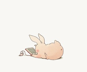 drawing, rabbit, and cute image