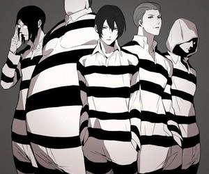 prison school boys, kangoku gakuen boys, and andou reiji image