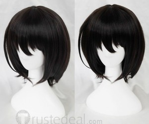 cute anime girl cosplay, cheap anime cosplay, and short black wig image