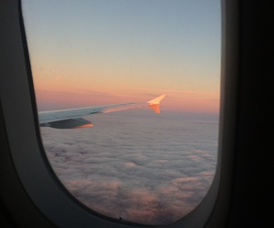 airplane, cloud, and plane image