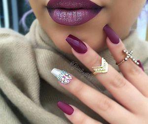 nails, rings, and makeup image