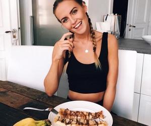 girl, banana, and fashion image