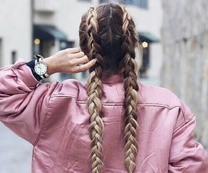 hair, style, and stylé image