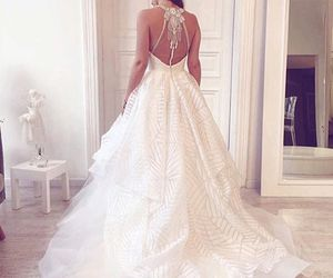 backless, beautiful, and bride image