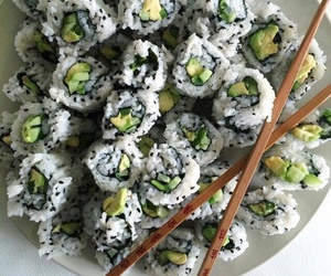 sushi, food, and tumblr image