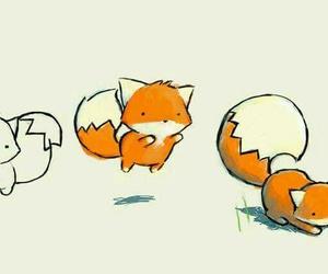 chibi, fox, and cute image