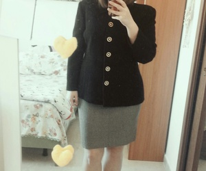 classy, outfit, and office attire image