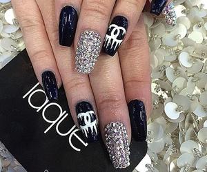 girls, nails, and chanel nails image