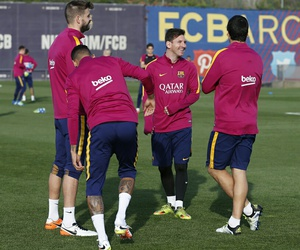Barca, leo messi, and training image