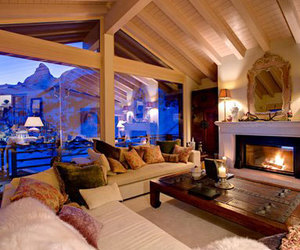 house, luxury, and fire image