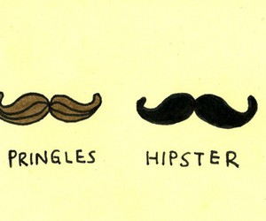 hipster, pringles, and mustache image