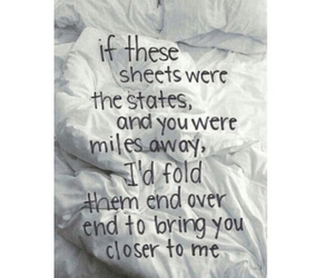 couple, quotes, and sheets image