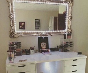 makeup and bedroom image