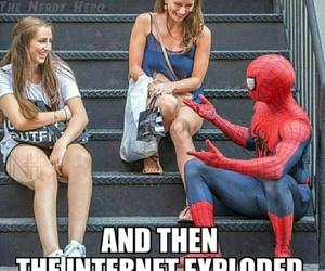 spiderman, civil war, and funny image