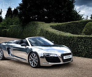 car, audi, and chrome image