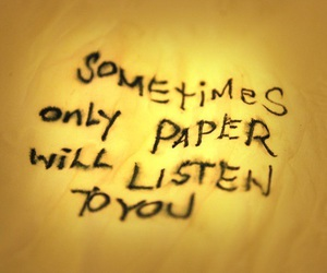Paper, listen, and quote image