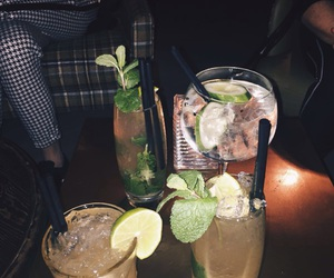 drink, cocktail, and bar image