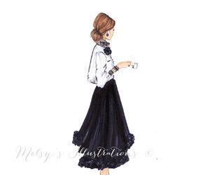 etsy, fashion illustration, and melsys illustrations image