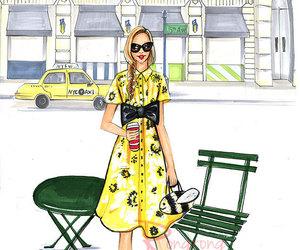 boho, shabby chic, and fashion print image