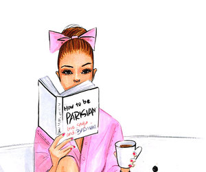 coffee, draw, and girl image