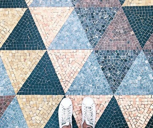 floors, interior, and tiles image