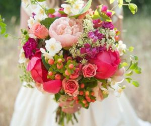 flowers, wedding, and bouquet image