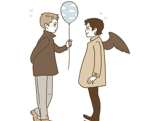 dean, supernatural, and castiel image