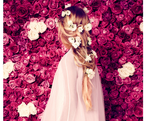 flowers, pink, and hair image