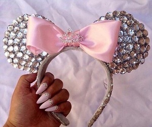 bow, disney, and pink image