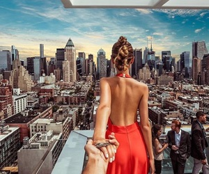 travel, city, and couple image