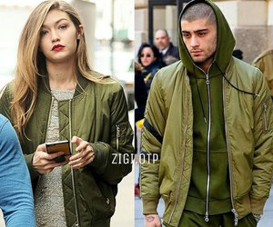 couple, zayn malik, and gigi hadid image