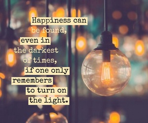 happiness, light, and quote image