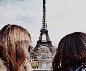 beautiful, best friends, and eiffel tower image