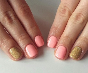 gold, nails, and gray image