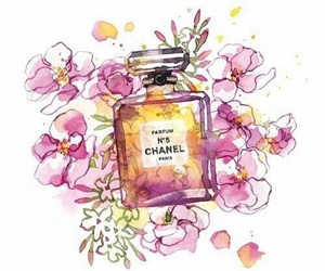 chanel, flowers, and art image