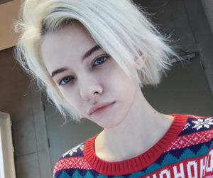 girl and white hair image