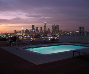 pool, city, and luxury image