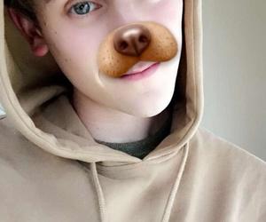 connor franta, dog, and snapchat image