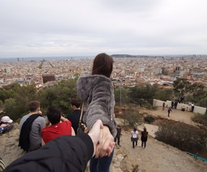 barcellona, girl, and travel image