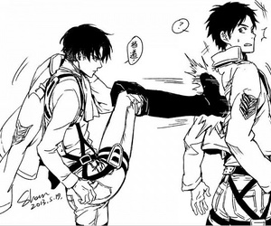 shingeki no kyojin, attack on titan, and levi image