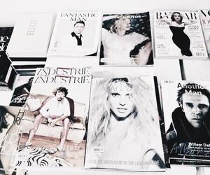 magazine, white, and theme image