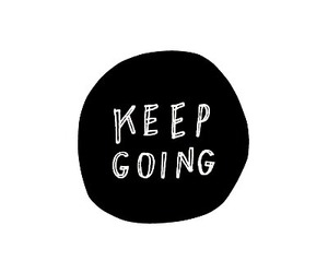 quotes, keep going, and text image
