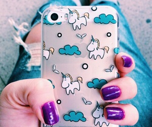 unicorn, iphone, and case image