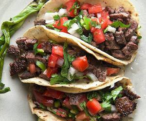 healthy, tacos, and carne asada image