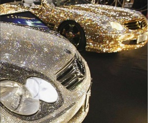 car, mercedes, and glitter image