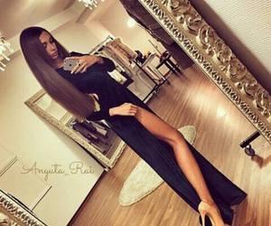 dress, luxury, and black image