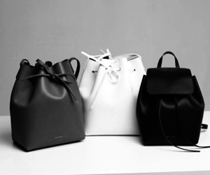 bag, white, and black image
