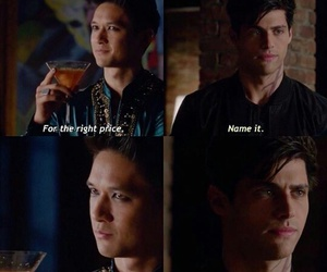 alec lightwood, shadowhunters, and magnus bane image